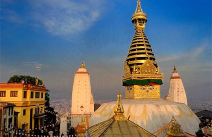 Swayambhunath view from Hotel