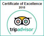 Trip Advisor Certificate 2018